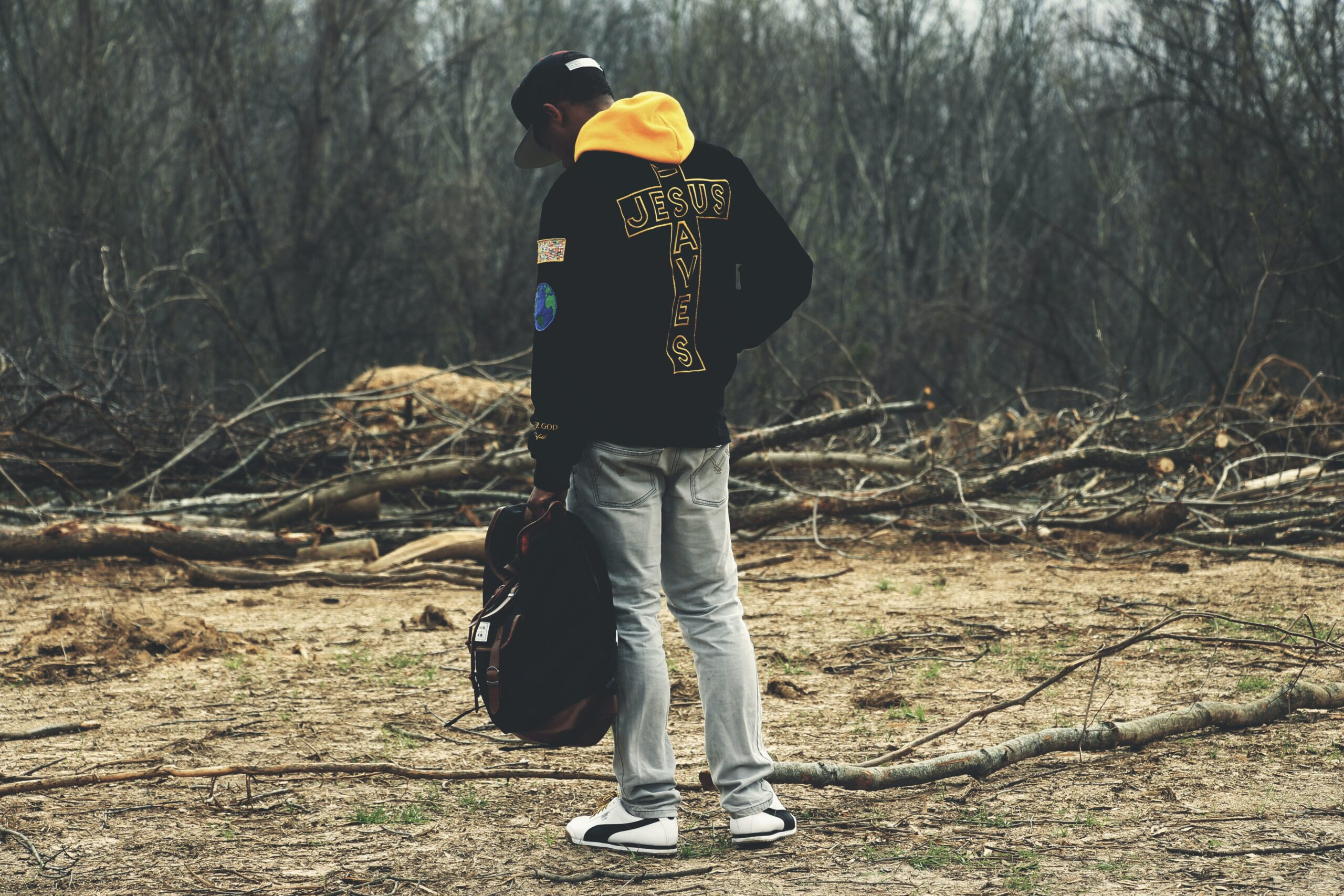 man in bush